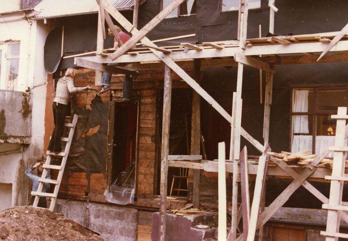 Njálsgata 22 1977 búið að rífa skúr á suðurhlið