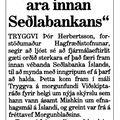 Moggi 060515 Tryggvi Þór Fjármálaeftirlit sterkara innan Seðlabanka