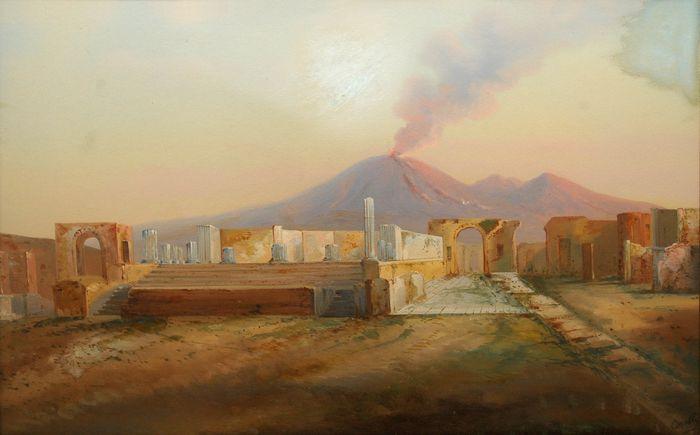 Vesúvíus og Pompeii 1800