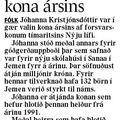 Fbl 081211 Jóhanna Kristjóns kona ársins