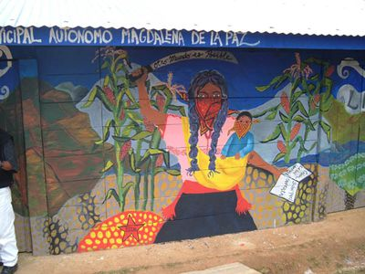 F ndur dagsins zapatista vetrarh fur for Mural zapatista