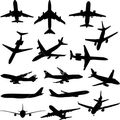 ist2 4633388-airplane-silhouette-collection