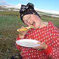 Veddi m/nýbakaða pizzu í Leirufirði