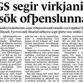 Fbl 081220 AGS Virkjanir orsök þenslu