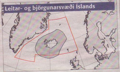 Leitar-og björgunarsvæði.