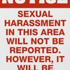 Sexual Harrassment Posters