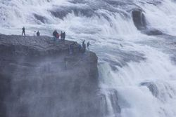 a man who fell down Gullfoss waterfall around 5 p.m. today.