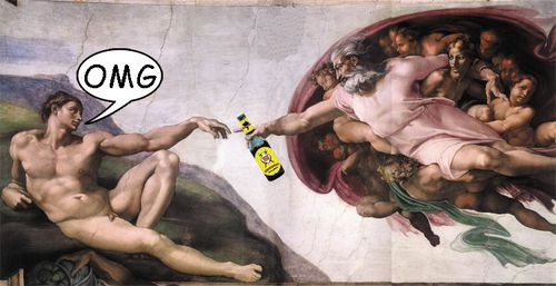 Gvuð réttir Adma øl