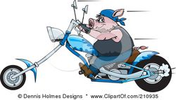 210935-Tough-Hog-Riding-A-Blue-Chopper-Motorcycle-And-Speeding-Past-Poster-Art-Print