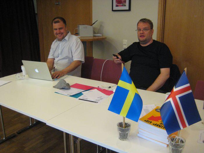 Mótstjórarnir Carl Fredrik og Sverrir Þór