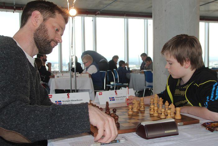 Kristján Eðvarðsson og Dawid Kolka