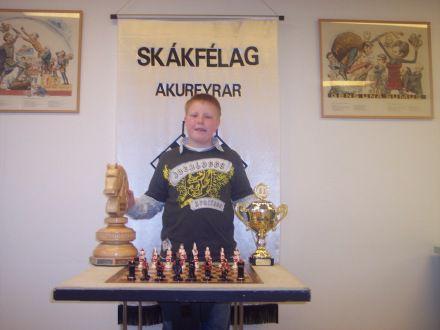 mikael islandsmeistari i skolaskak 2008.