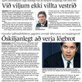 Fbl 090805 Bjarni Ben og Villta vestrið