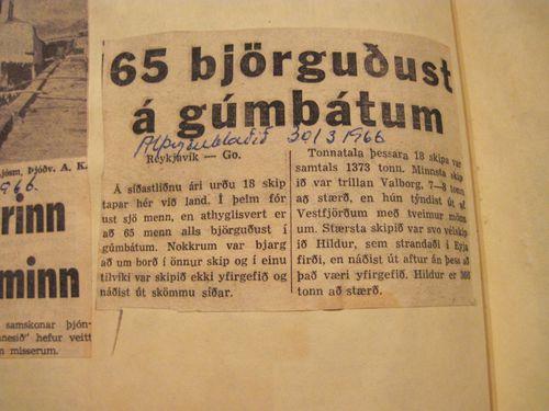 Urklippa. nr 19.  11.mars til 8.07 1966 020