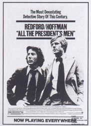 poster Alan J. Pakula All the Presidents Men Hoffman Redford