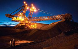 Australia-Iron-Ore-Mine-Night