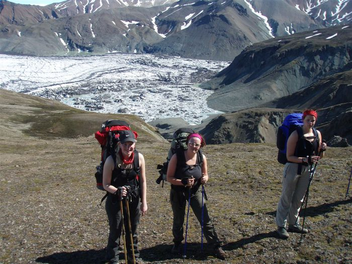 Í Norðurdal horft niður á eitt lónið.