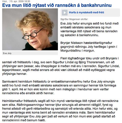 Mme. Joly - Nýjasta svindlið?