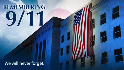 Árásir á Bandaríkin 11. september 2001 - Pentagon - We will never forget
