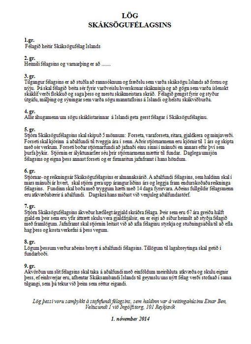Lög skáksögufélagsins 2.11.2014 23 15 00.2014 231500