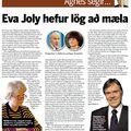 Moggi 090614 Agnes Braga Eva Joly hefur lög að mæla