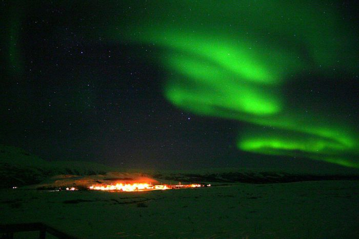 Norðurljós yfir Geysi