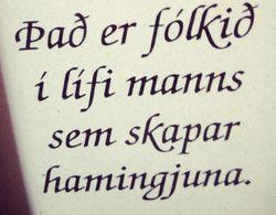 Fólkið í lífi manns