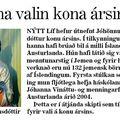 Moggi 081211 Jóhanna Kristjóns kona ársins