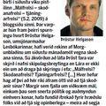 Lesbók 090214 Þröstur og hræðsluþjóðfélagið