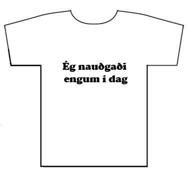 Nauðgaði engum í dag