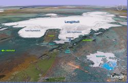Hagavatn Google Earth