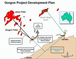 Gorgon gas project_map