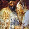 Piero della Francesca  Legend of the True Cross   the Queen of Sheba Meeting with Solomon