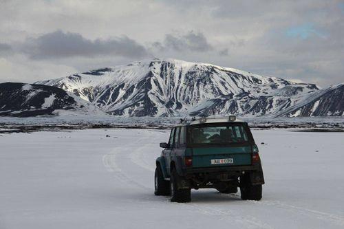 Range Rover 73 Kötlujeppinn v Upptyppinga