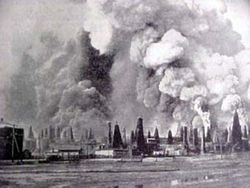 Baku-oil-fields-burning