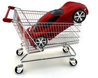 Red Car in Cart