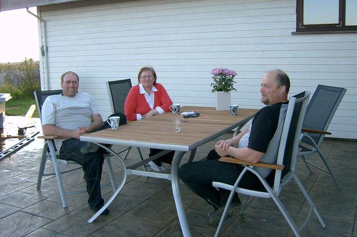 Hannes,Erna og vinur