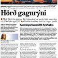 Hörð gagnrýni
