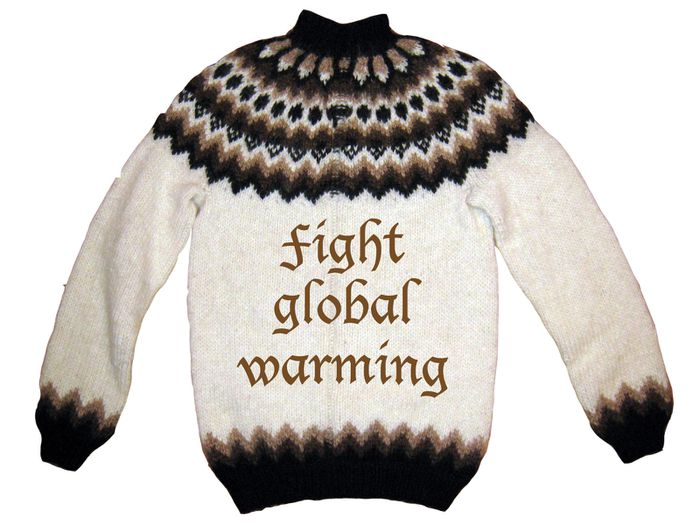 Fight global warming wool sweater