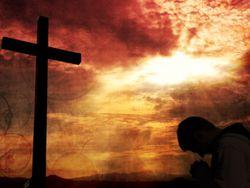 Kneeling_Cross_Man_Red