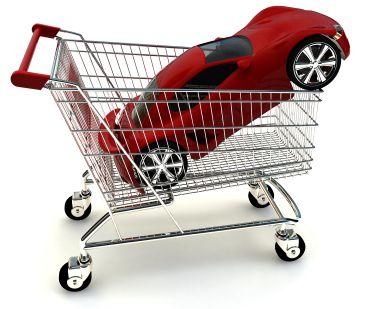 Red Car in Cart