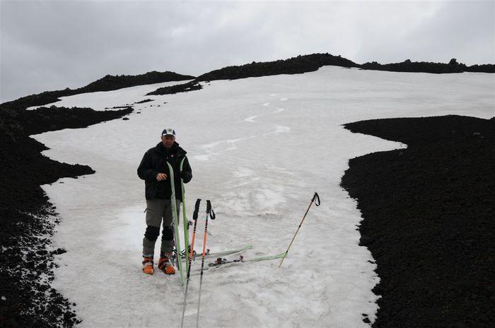 Skíðað niður í 730m