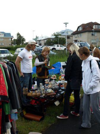 Útimarkaður ÍL við Laugarneskirkju 31.08.08