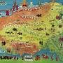 kort af Tíbet