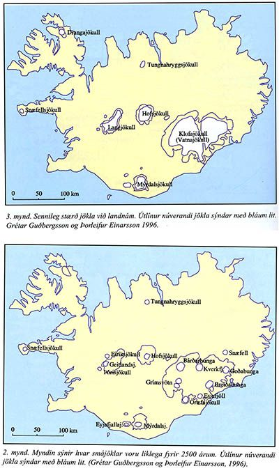Glaciers in Iceland 1000 and 2500 years ago 400w