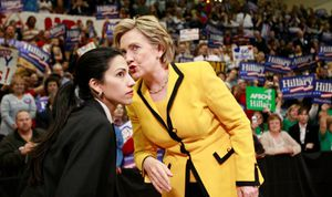 Clinton and Huma Abedin