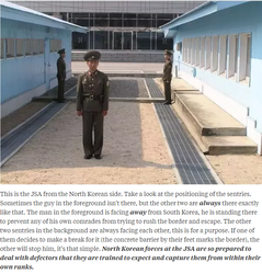 Mynd frá: https://www.quora.com/Why-if-a-North-Korean-defector-crosses-the-border-at-the-Joint-Security-Area-they-get-shot-but-if-they-go-through-China-theyll-be-welcome-in-S-Korea