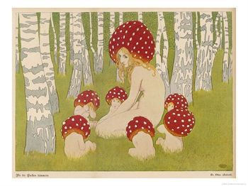 10007859~Creatures-of-the-Woods-in-Their-Toadstool-Hats-Posters