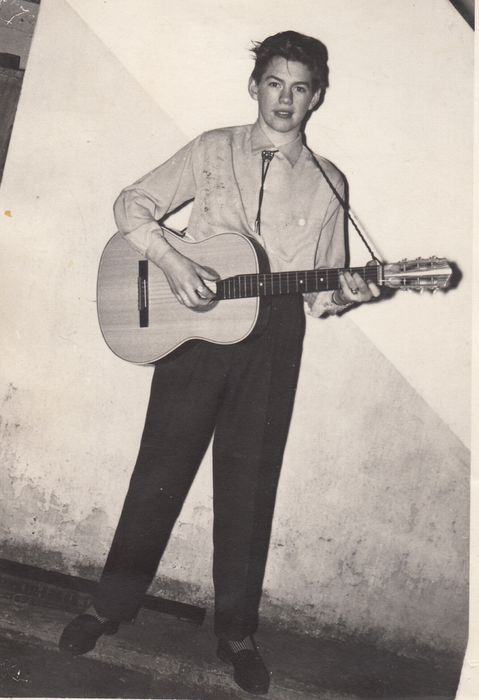 Siggi með gitarinn
