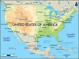 Map of North America (Canada, Mexico, United States)